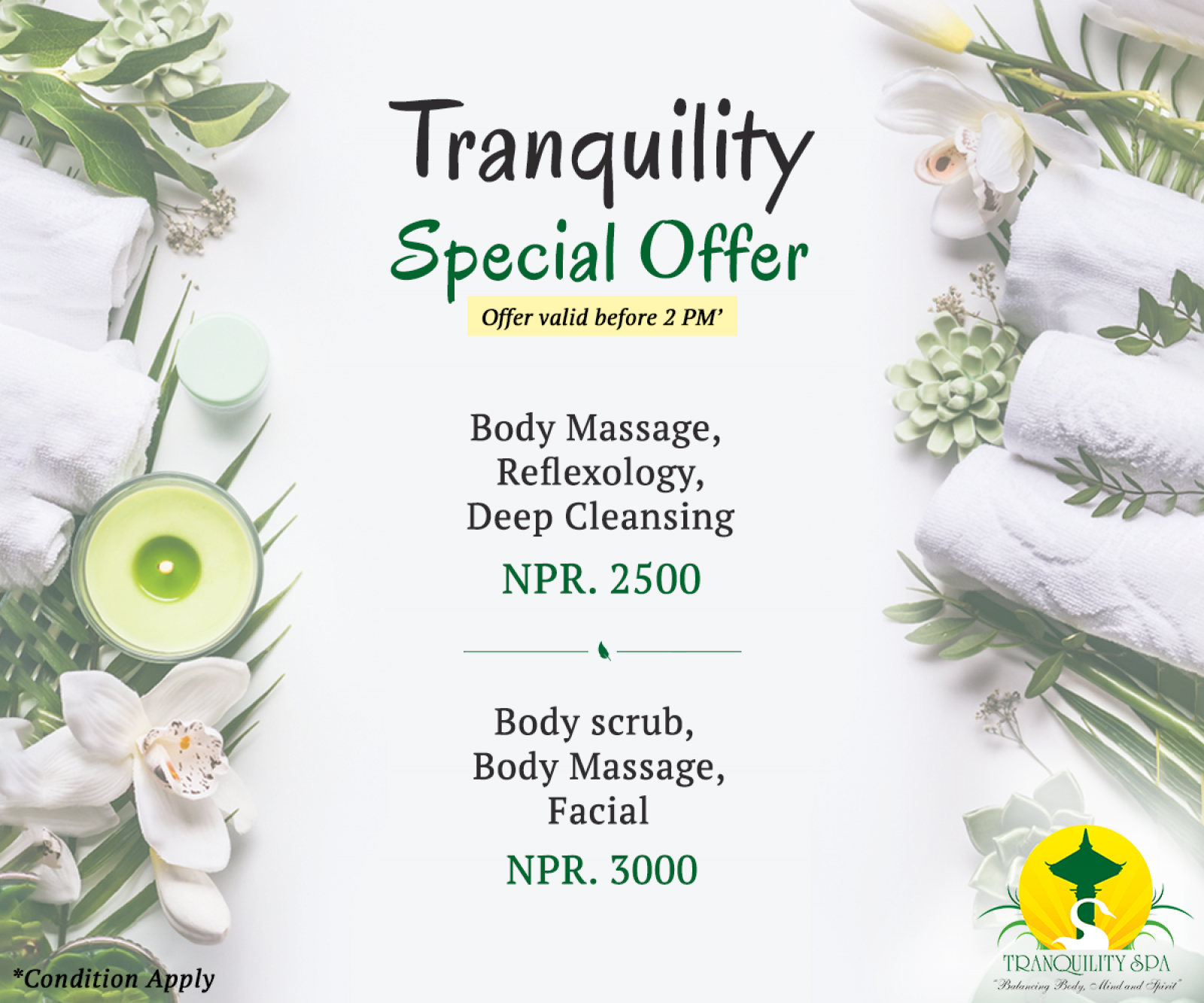 Tranquility Special Offer