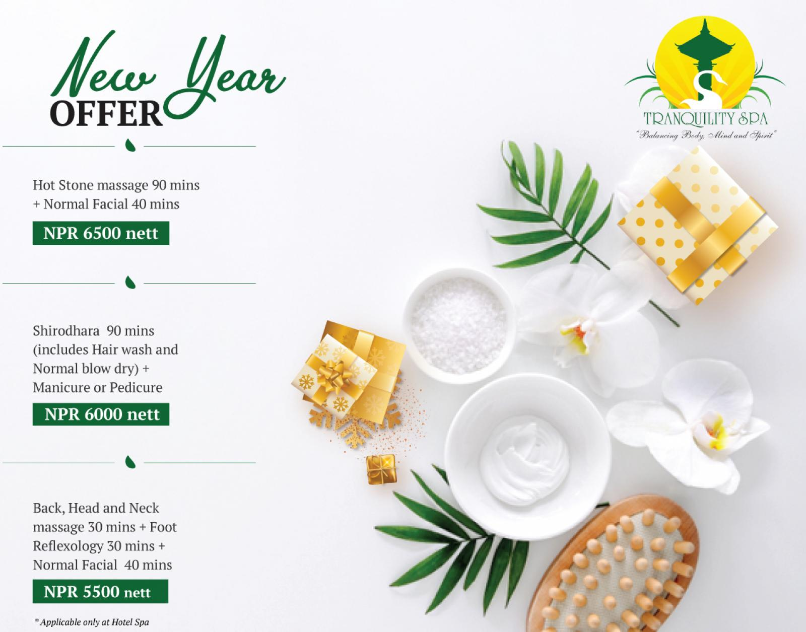 New Year Offer (For Hotel Spa)