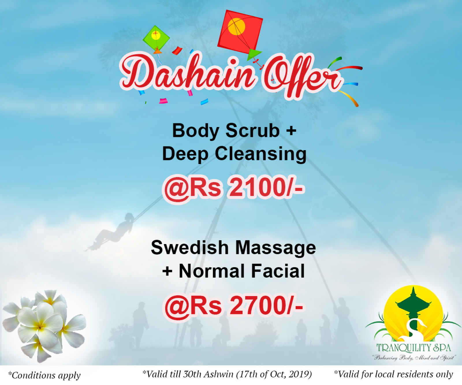 Dashain Offer (Valid till 17th of October, 2019)